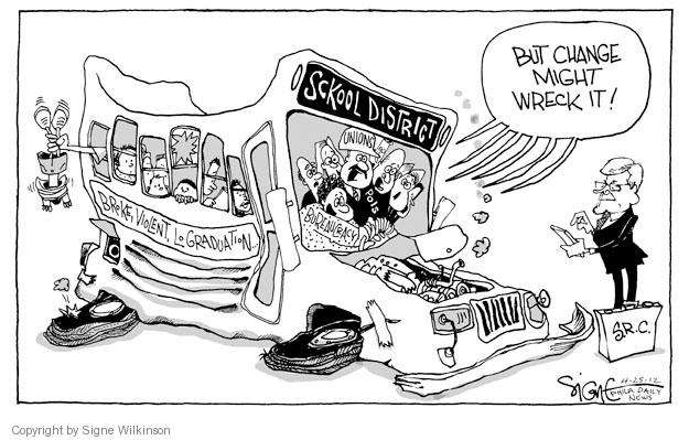 Cartoonist Signe Wilkinson  Signe Wilkinson's Editorial Cartoons 2012-04-25 reform