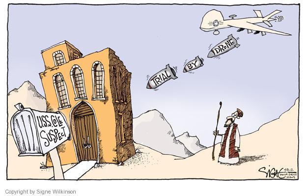 Signe Wilkinson  Signe Wilkinson's Editorial Cartoons 2012-05-09 drone