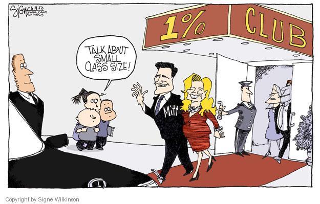 Talk about small class size! 1% Club. Mitt.