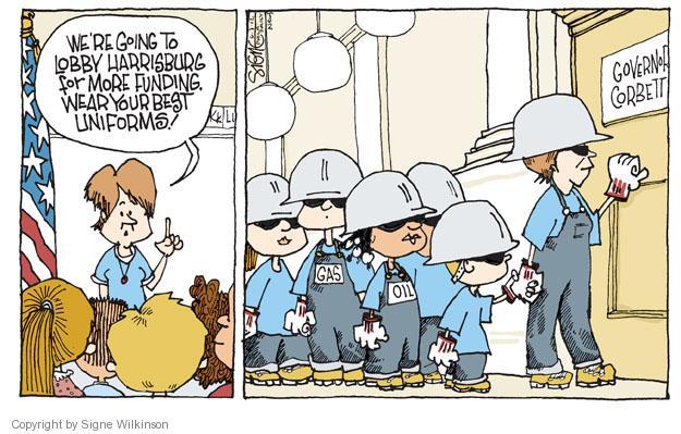 Cartoonist Signe Wilkinson  Signe Wilkinson's Editorial Cartoons 2012-06-07 political lobby