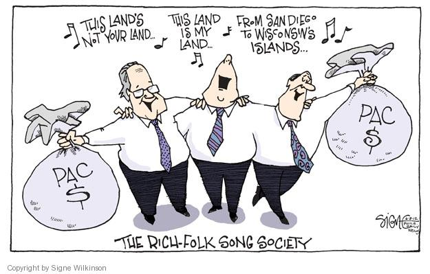 Cartoonist Signe Wilkinson  Signe Wilkinson's Editorial Cartoons 2012-06-08 gubernatorial