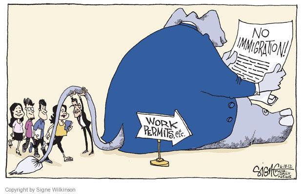 Signe Wilkinson  Signe Wilkinson's Editorial Cartoons 2012-06-18 Obama republicans