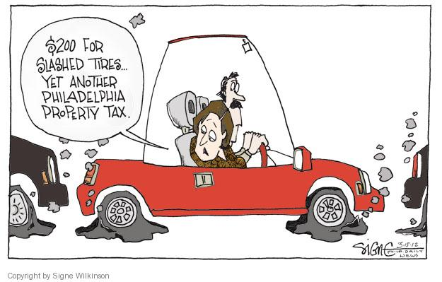 Cartoonist Signe Wilkinson  Signe Wilkinson's Editorial Cartoons 2012-03-15 property tax