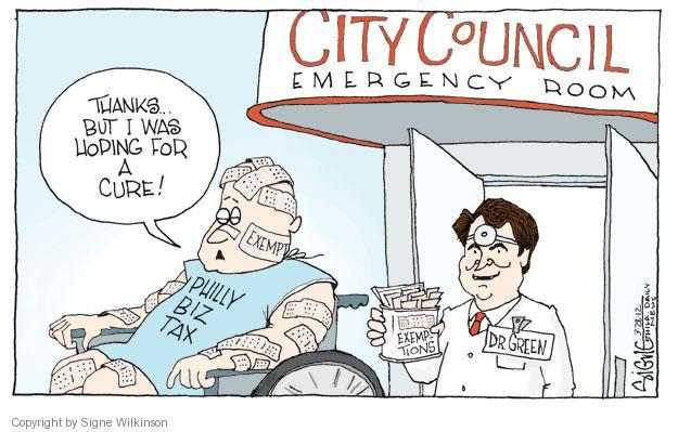 Cartoonist Signe Wilkinson  Signe Wilkinson's Editorial Cartoons 2012-03-28 cure