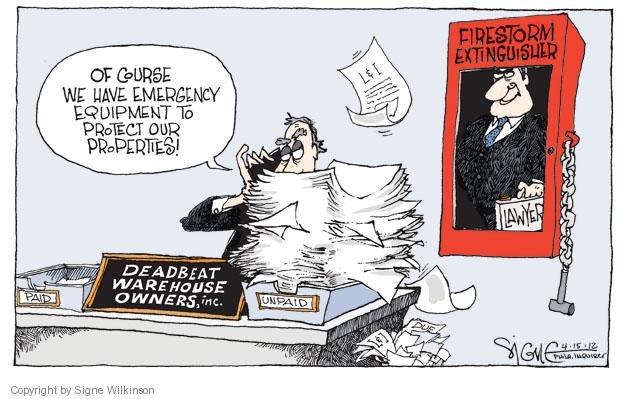 Signe Wilkinson  Signe Wilkinson's Editorial Cartoons 2012-04-15 paid