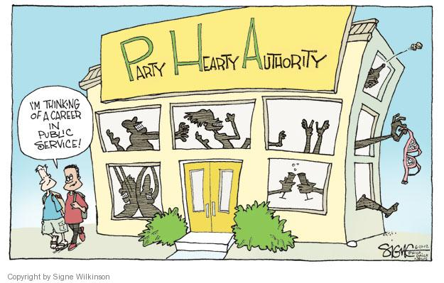 Signe Wilkinson  Signe Wilkinson's Editorial Cartoons 2012-06-21 house party