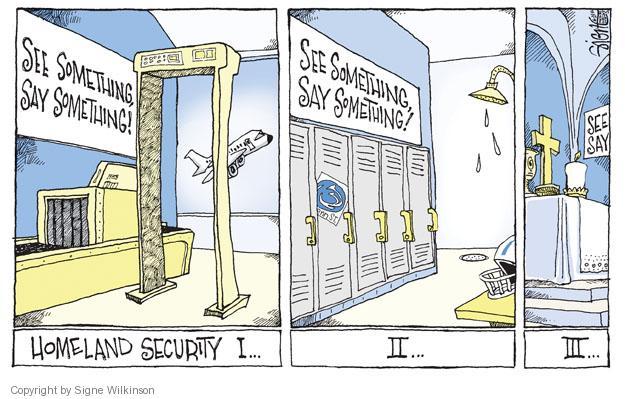Cartoonist Signe Wilkinson  Signe Wilkinson's Editorial Cartoons 2012-06-25 sexual abuse