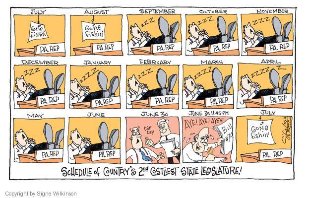 Cartoonist Signe Wilkinson  Signe Wilkinson's Editorial Cartoons 2012-07-05 cost