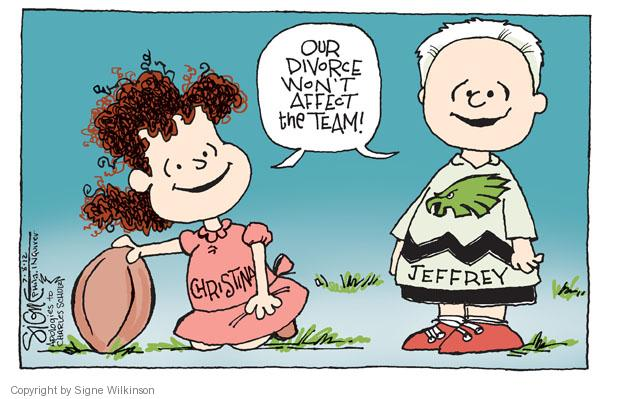 Cartoonist Signe Wilkinson  Signe Wilkinson's Editorial Cartoons 2012-07-08 team sport