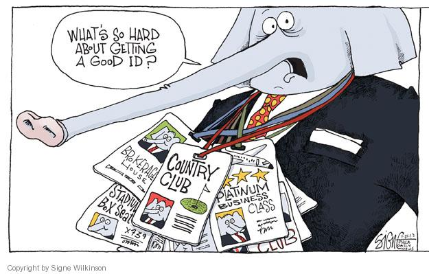 Cartoonist Signe Wilkinson  Signe Wilkinson's Editorial Cartoons 2012-07-31 wealth