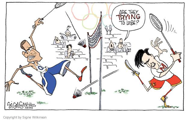 Signe Wilkinson  Signe Wilkinson's Editorial Cartoons 2012-08-03 lose