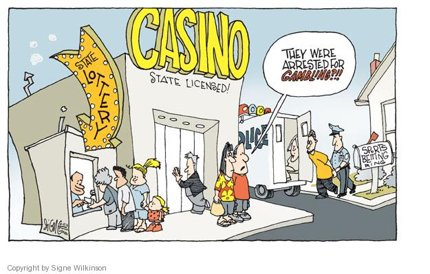 Gambling comic