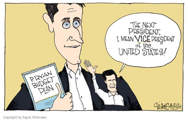 Cartoonist Signe Wilkinson  Signe Wilkinson's Editorial Cartoons 2012-08-14 presidential candidate