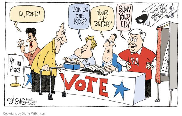 Signe Wilkinson  Signe Wilkinson's Editorial Cartoons 2012-08-17 voter identification