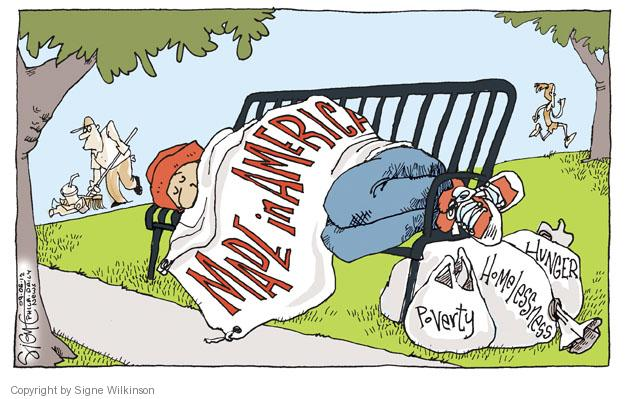 Cartoonist Signe Wilkinson  Signe Wilkinson's Editorial Cartoons 2012-09-06 economy