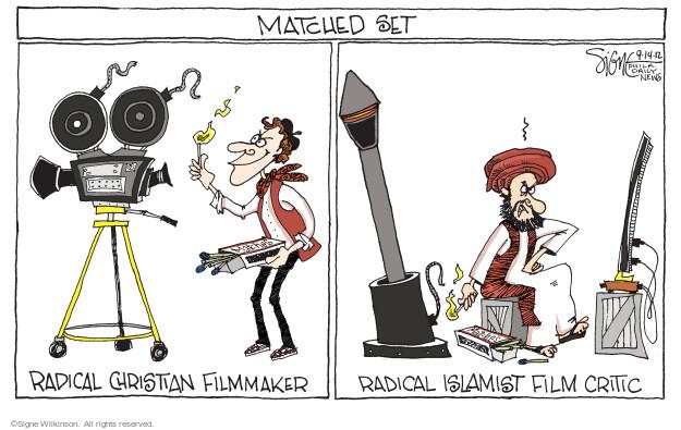 Signe Wilkinson  Signe Wilkinson's Editorial Cartoons 2012-09-14 censorship