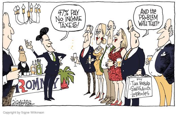Signe Wilkinson  Signe Wilkinson's Editorial Cartoons 2012-09-19 47 percent