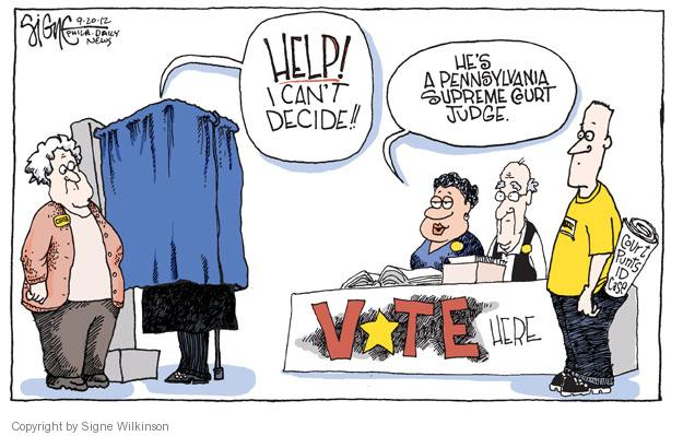 Cartoonist Signe Wilkinson  Signe Wilkinson's Editorial Cartoons 2012-09-20 election fraud