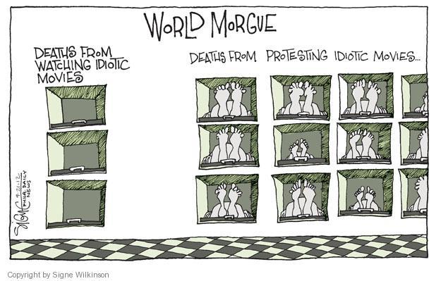 Signe Wilkinson  Signe Wilkinson's Editorial Cartoons 2012-09-21 censorship