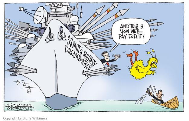 Cartoonist Signe Wilkinson  Signe Wilkinson's Editorial Cartoons 2012-10-05 presidential candidate