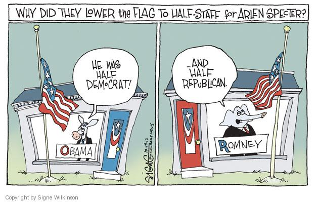 Signe Wilkinson  Signe Wilkinson's Editorial Cartoons 2012-10-19 moderate republican