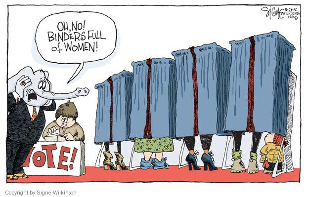 Signe Wilkinson  Signe Wilkinson's Editorial Cartoons 2012-11-09 vote
