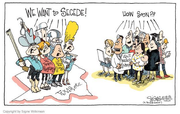 Signe Wilkinson  Signe Wilkinson's Editorial Cartoons 2012-11-15 2012