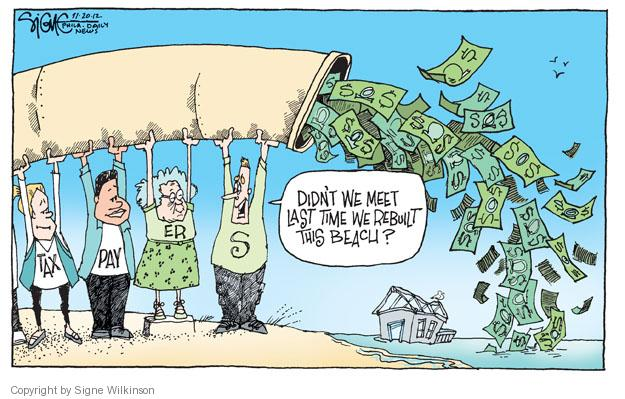 Cartoonist Signe Wilkinson  Signe Wilkinson's Editorial Cartoons 2012-11-20 rebuild