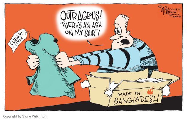 Signe Wilkinson  Signe Wilkinson's Editorial Cartoons 2012-11-28 working conditions