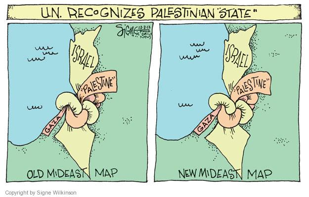 Signe Wilkinson  Signe Wilkinson's Editorial Cartoons 2012-12-03 Israel