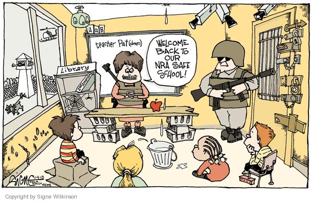 Cartoonist Signe Wilkinson  Signe Wilkinson's Editorial Cartoons 2013-01-04 Pat