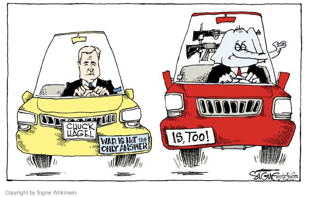 Signe Wilkinson  Signe Wilkinson's Editorial Cartoons 2013-01-08 assault weapon