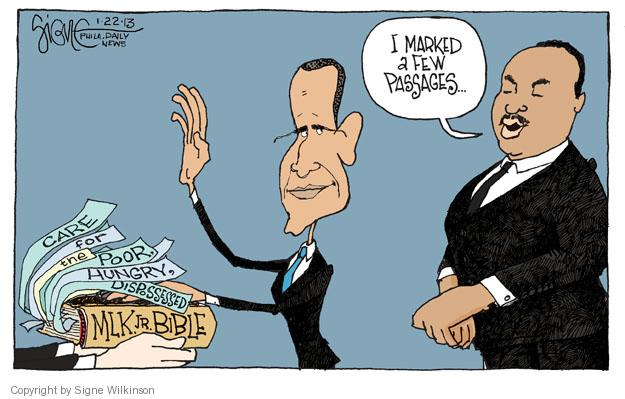 Signe Wilkinson  Signe Wilkinson's Editorial Cartoons 2013-01-22 Luther