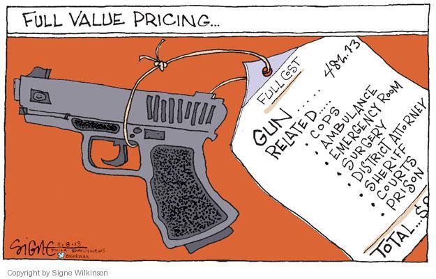 Cartoonist Signe Wilkinson  Signe Wilkinson's Editorial Cartoons 2013-02-08 gun rights