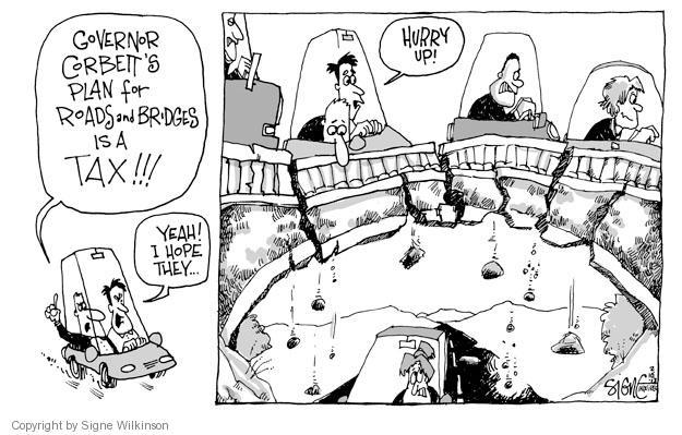 Signe Wilkinson  Signe Wilkinson's Editorial Cartoons 2013-02-10 infrastructure plan