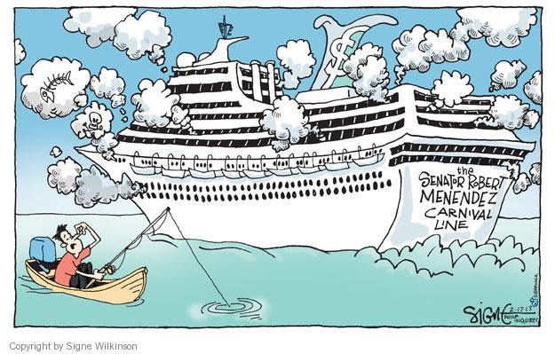 Cartoonist Signe Wilkinson  Signe Wilkinson's Editorial Cartoons 2013-02-17 political scandal
