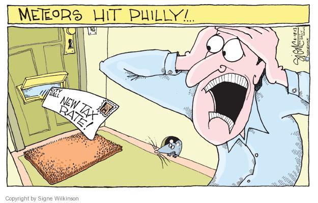 Cartoonist Signe Wilkinson  Signe Wilkinson's Editorial Cartoons 2013-02-18 property tax