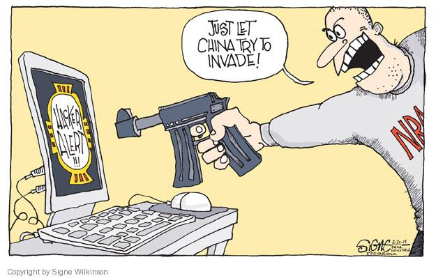 Signe Wilkinson  Signe Wilkinson's Editorial Cartoons 2013-02-20 assault weapon