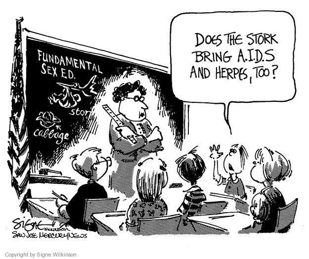 Cartoonist Signe Wilkinson  Signe Wilkinson's Editorial Cartoons 1983-05-20 HIV - AIDs