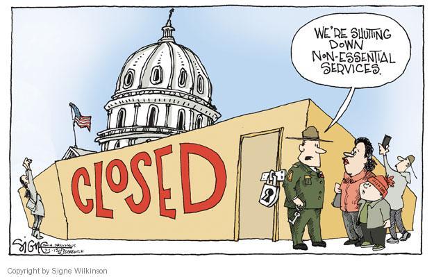 Cartoonist Signe Wilkinson  Signe Wilkinson's Editorial Cartoons 2013-03-01 shutdown