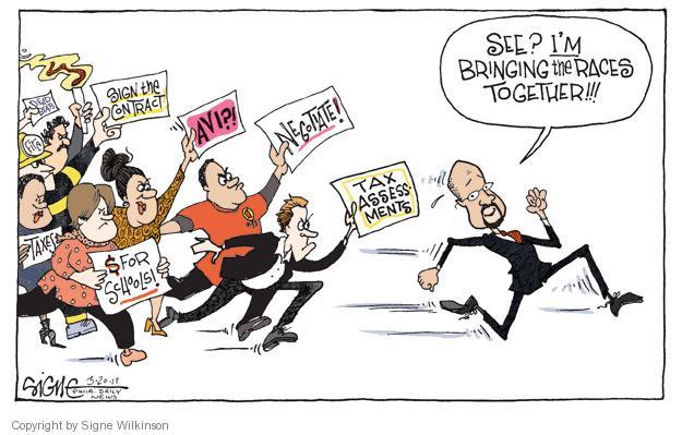 Cartoonist Signe Wilkinson  Signe Wilkinson's Editorial Cartoons 2013-03-20 property tax