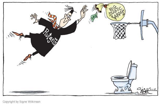 Cartoonist Signe Wilkinson  Signe Wilkinson's Editorial Cartoons 2013-04-11 basketball coach