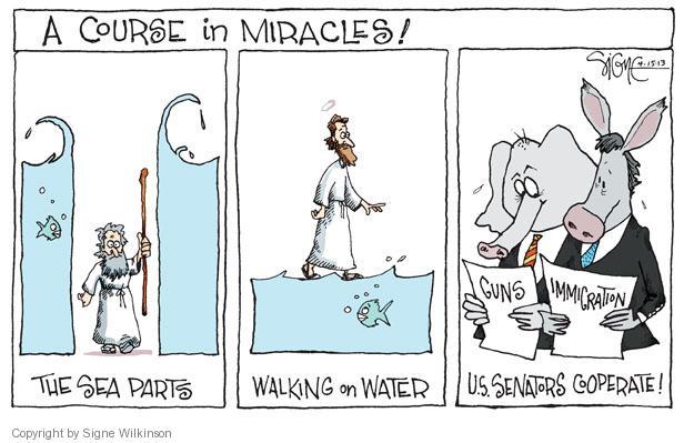 Signe Wilkinson  Signe Wilkinson's Editorial Cartoons 2013-04-15 assault weapons ban