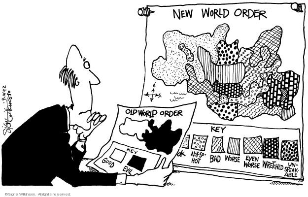 Signe Wilkinson  Signe Wilkinson's Editorial Cartoons 1992-09-14 evil