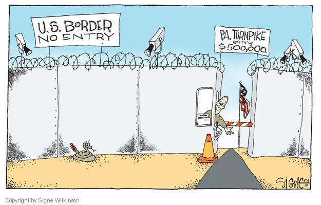 Cartoonist Signe Wilkinson  Signe Wilkinson's Editorial Cartoons 2013-05-12 cost
