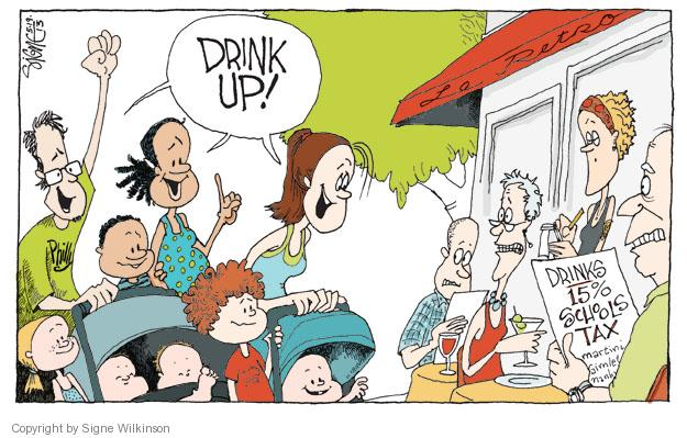 Comics And Cartoonist Group Wilkinson's The Editorial Drink - Cartoons Signe Alcohol