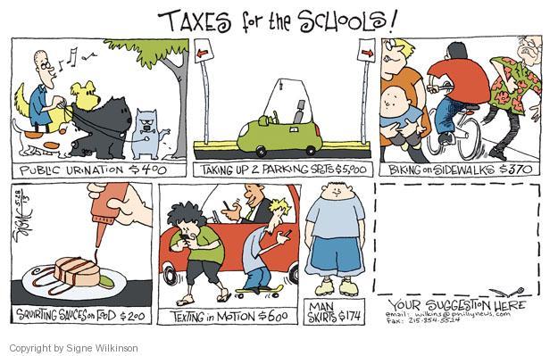 Cartoonist Signe Wilkinson  Signe Wilkinson's Editorial Cartoons 2013-05-28 property tax