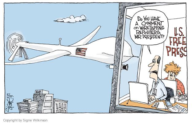 Signe Wilkinson  Signe Wilkinson's Editorial Cartoons 2013-05-29 freedom of the press