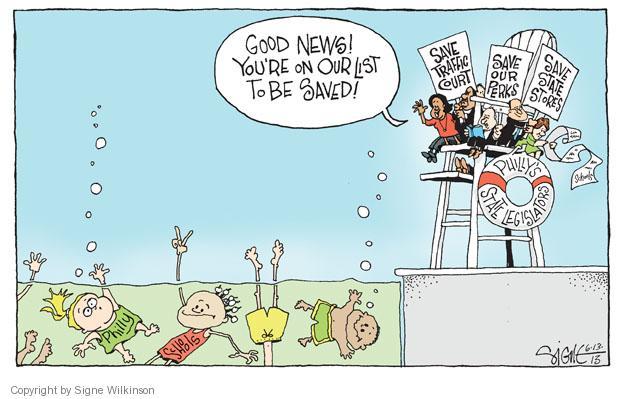 Signe Wilkinson  Signe Wilkinson's Editorial Cartoons 2013-06-13 good news