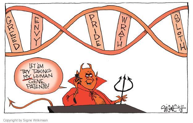 Cartoonist Signe Wilkinson  Signe Wilkinson's Editorial Cartoons 2013-06-17 supreme